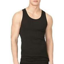 2 Pk Gap Men 100% Cotton Ribbed Tank Top Undershirt Black NWT Sz S M L XL