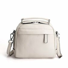 Simple Zipper Leather Tote Bag Women Work Shoulder Crossbody Bag Small Handbags