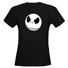 NIGHTMARE BEFORE CHRISTMAS JACK MOTIF FITTED T SHIRT SIZES 6 TO 16 FUN