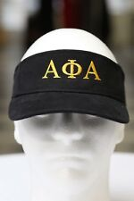 Alpha Phi Alpha visor, black - sun golf running jogging - ICE COLD