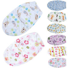 Cotton Cartoon Newborn Baby Infant Swaddle Easy Wrap Swaddling Blanket 0-6 month