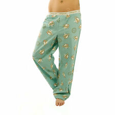 Life is Good Turquoise Blue Hot Tea Cup Lounge Pajamas Sleep Pants Sleepwear NWT