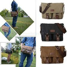 Vintage Men's Canvas Single Shoulder Messenger Working Travel School Bag