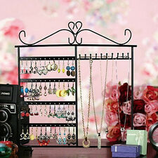 Charming Earrings Ear Studs Necklace Jewelry Display Rack Metal Stand Organizer.