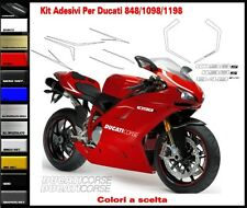 Sticker kit for Ducati 848 1098 1198 Decals for fairings look 1199 PanigaleR