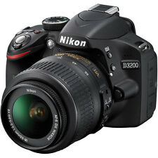Nikon D3200 DSLR Camera with 18-55mm VR Lens (Black)