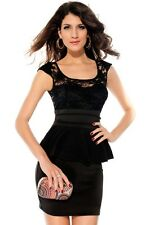 Sunflower Lace Cut-Out Back Black Dress LAVELIQ SALE