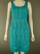 BNWT MINUET PETITE SLEEVELESS TIERED TURQUOISE DRESS SIZE 8 & 18 - RRP £120