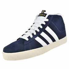 Adidas Mens BB Neo ST Daily Mid Top Suede Leather Trainers Navy AUTHENTIC
