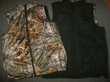 Realtree Vest Womens Size: M L XL Reversible Black Camo Zip Up Pockets Mockneck