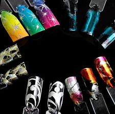 Nail Art Transfer Foils Sticker Decals Star Gradient Nail Tips Decorations DIY