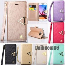 Luxury Leather Flip Wallet Card Slot Stand Cover Case Wallet For Samsung iPhone