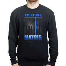 Blue Lives Matter Police Law Enforcement Sweatshirt Hoodie Shirt