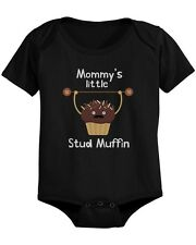 Mommy's Stud Muffin Baby Bodysuit Cute Infant Black Onesie Gift for Baby Shower