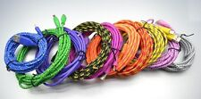 USB Braided Charger Data Sync Cable For iPhone 5 6 S + Samsung Galaxy S 3 4 5 6