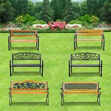 46.5/48/49.6/50FT Outdoor Patio Garden Park Bench Coffee Picnic Beer Bench J9Y8