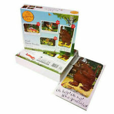 Julia Donaldson The Gruffalo 4 in 1 Jigsaw Puzzles Pack Children's Books Box Set