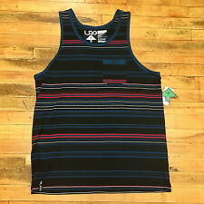 Lifted Research Group Striped premium pocket tank top Blue Skateboard LRG42007
