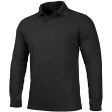 Pentagon Polo 2.0 Shirt Long Sleeve Tactical Army Gear Outdoor Hiking Wear Black