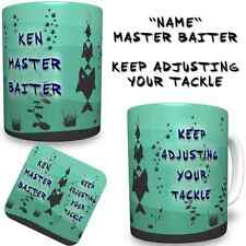 Master Baiter Funny Fishermans Personalised YOUR NAME Printed Mug FREE DELIVERY