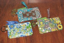 NWT Vera Bradley ENGLISH MEADOW or TOTALLY TURQ College School Keys ZIP ID CASE