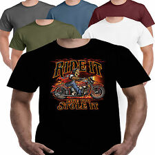 Motorcycle Bike Biker Motorbike T shirt Ride American Kustom Bobber Chopper 106