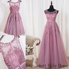 Hot Beaded Bridesmaid Evening Ball Gown Formal Prom Party Cocktail Dress UK 6-22
