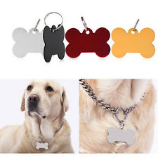 Puppy Pet Dog Cat Small Stainless Bone Print ID Name Collar Personalized Tag VB