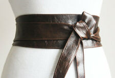 Vintage Brown Obi Belt Leather | Brown Obi Belt | Corset Waist Belt | Plus Size
