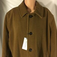 NEW Cole Haan Signature Peacoat Jacket Camel Brown 4 Button Wool Blend