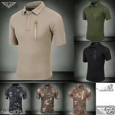 TYPHON Outdoor Mens Tactical T-Shirt Army Military Polo Special Forces Quick Dry