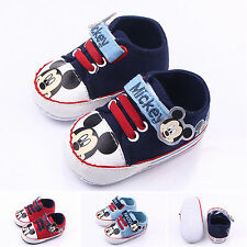 Baby Kid Toddler Infant Mickey Trainer Shoes Soft Sole Casual Anti-slip Sneakers