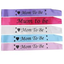 Mom to Be with Heart Pattern Ribbon Sash Baby Shower PartyFavour