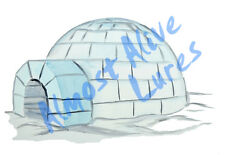 Igloo Frozen Eskimo Ice Vinyl Decal Sticker - Auto Car Truck RV Cell Cup Boat