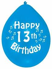 """Happy 13th Birthday 9"""" Party Balloons Colour CHOOSE YOUR QUANTITY"""