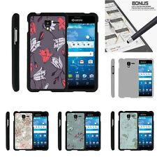 For Kyocera Hydro Shore | View | Reach Slim Hard Snap On Case Elegant Flowers