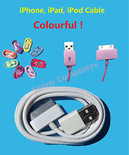 USB Data Sync Charge Cable Cord for iPad iPod iPhone 4s 4 3 3GS Colorful 30-pin