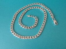 """Sterling Silver 6mm Curb Chain Length 18"""" Weight 29.6g Hallmarked - USED"""