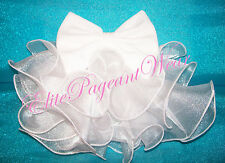 """National Pageant Dress shell Bustle & Bow & HairBow """"ANY COLOR"""""""