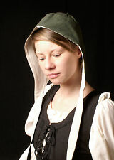 Coif with inner lining, various colours, Medieval LARP Hood Hat Maiden