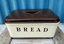 Vintage Retro Bread Bin Storage Container Box With Lid - Plastic - Mid Century 2