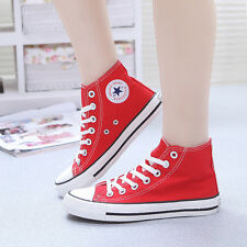 NEW Women's Canvas shoes Classic High Top Casual Sneakers Large Size Espadrilles