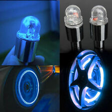 2 x Blue LED Neon Car Bike Wheel Tire Tyre Valve Dust Cap Spoke Lights Cool FG
