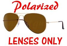POLARIZED BROWN Ray Ban RB 3025 Aviator Replacement Lenses 58mm 62mm B-15 Large