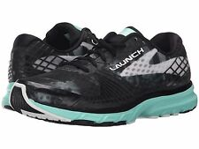 BROOKS LAUNCH 3 BLACK WHITE ICE GREEN WOMENS 2016 RUNNING SHOES **ALL SIZES