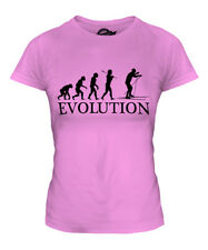 CROSS COUNTRY SKIING EVOLUTION OF MAN LADIES T-SHIRT TEE TOP GIFT