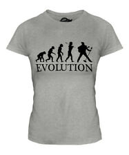 ROCK N ROLL IMPERSONATOR EVOLUTION OF MAN LADIES T-SHIRT TEE TOP GIFT ELVIS