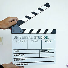 Hollywood Movie Director Clap Board Film Slate Cut Prop Clapper Clapboard