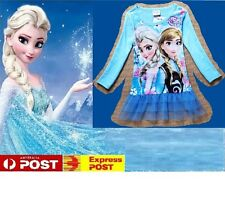 DISNEY FROZEN Elsa & Anna LONG SLEEVE TUTU DRESS or FANCY DRESS UP COSTUME