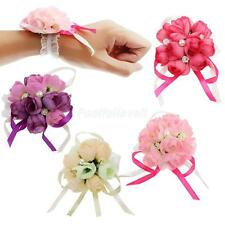 Wrist Bridal Bridesmaid Corsage Ribbon Flowers Wedding Supplies Bracelet Decor
